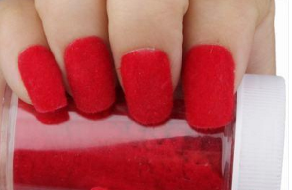 Fun Flocking Velvet Powder Nail Art - Red # 4462