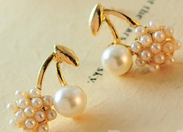 Dazzling Clustered Pearl Earrings # 13734
