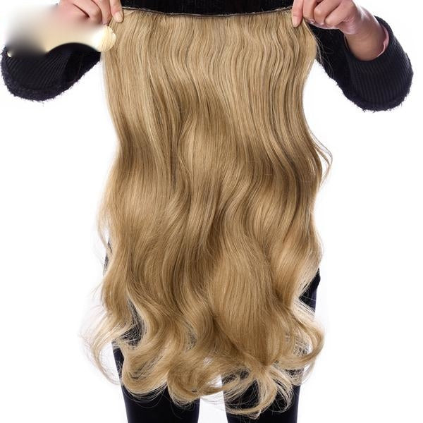 190g Wavy Clip-In Hair Extensions - Synthetic, Heat Resistant Fiber - 4 Clips/Piece