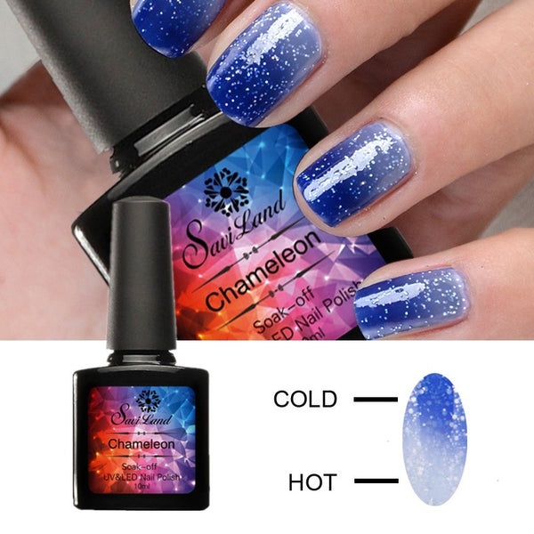 1pcs Chameleon Temperature Change Gel Nail Polish 10ml