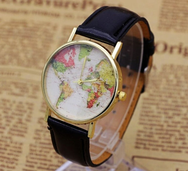 Casual World Map Watch (Women)