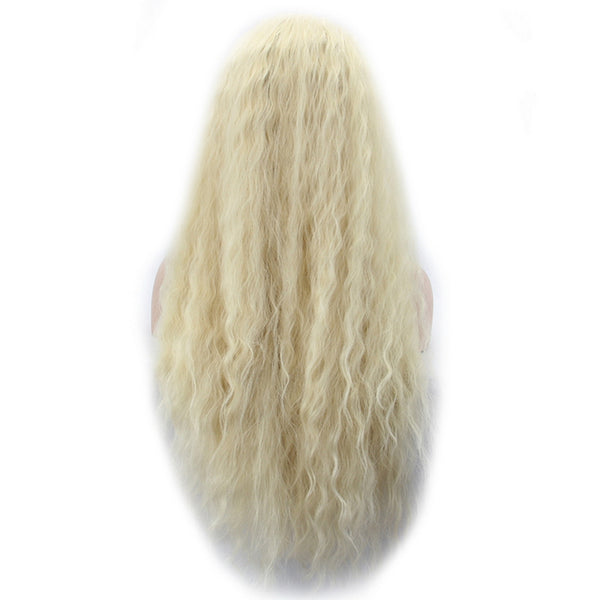 Curly Lace Front Wig  - Heat-Resistant Synthetic