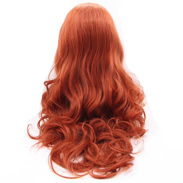 Red Lace Front Body Wave Wig - Synthetic/Heat Resistant Fiber