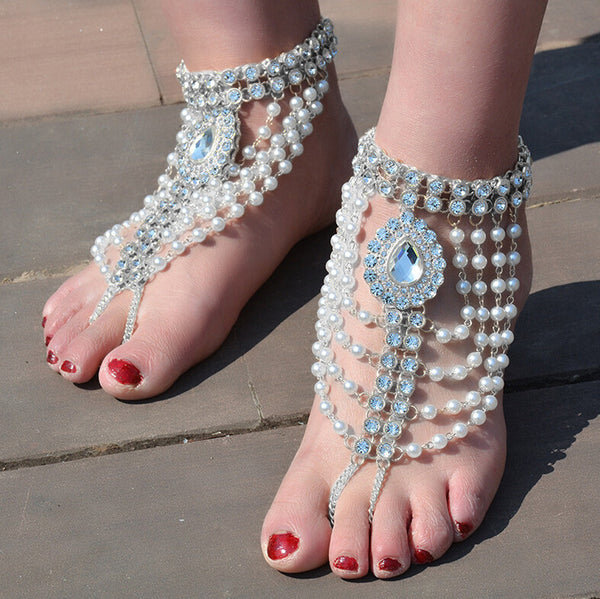 1PC Layer Pearl Anklet