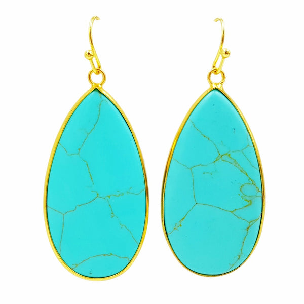 Turquoise Water Drop Earrings