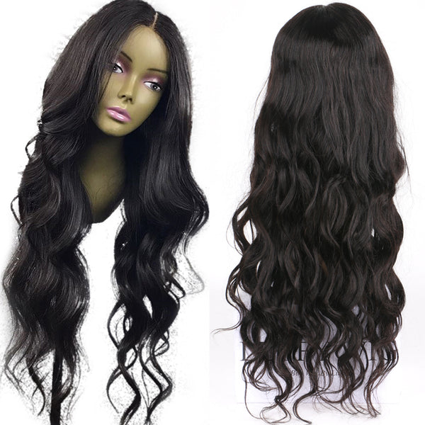 Glueless Lace Front Human Hair Wig With Baby Hair - Brazilian Non-Remy Hair