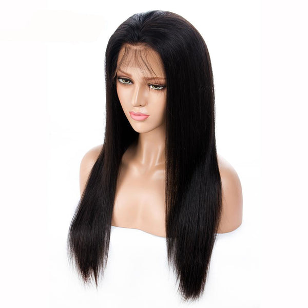 360 Lace Frontal Wig Pre-Plucked With Baby Hair 180% Density - Brazilian Straight
