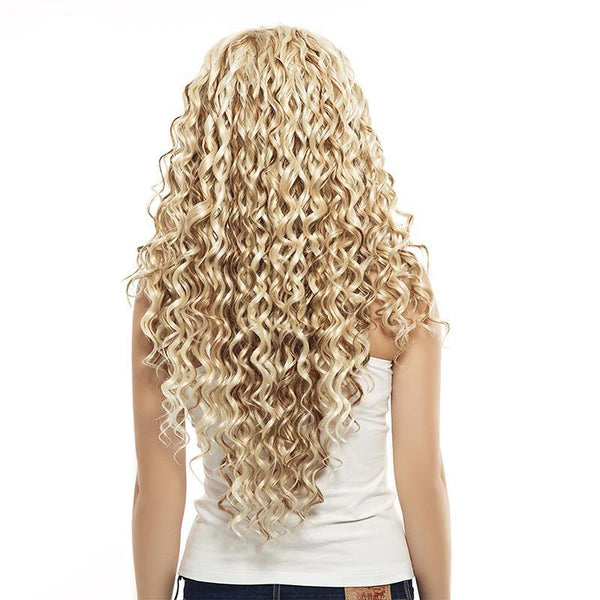 Curly Synthetic Lace Front Wig - Heat-Resistant Fiber