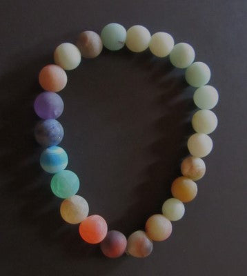 Amazonite Bracelet - Mixed Bright Colors with Earth Tone Colors