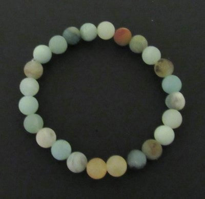 Amazonite Bracelt - Earth stones of blues, greens, golds and browns