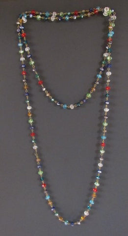 Layering Necklace - 60 Inches Multi Color