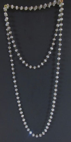 Layering Necklace - 60 Inch Crystal Beads