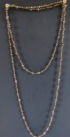 Layering Necklace - 60 inches Smokey Amethyst