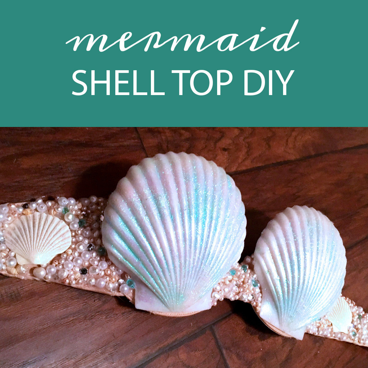 Make a mermaid top diy shell bra seatail for Shell diy