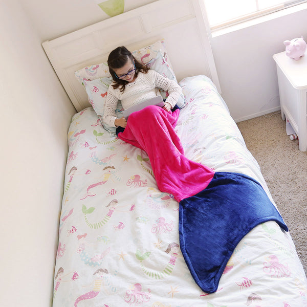 Hot Gift for Girls 2016 Holiday Mermaid Tail Blanket