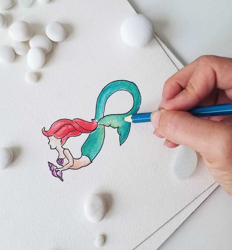 Mermaid Infinity Art