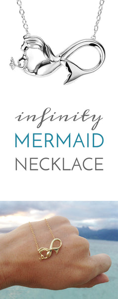 Infinity mermaid necklace
