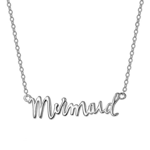 Mermaid Word Necklace