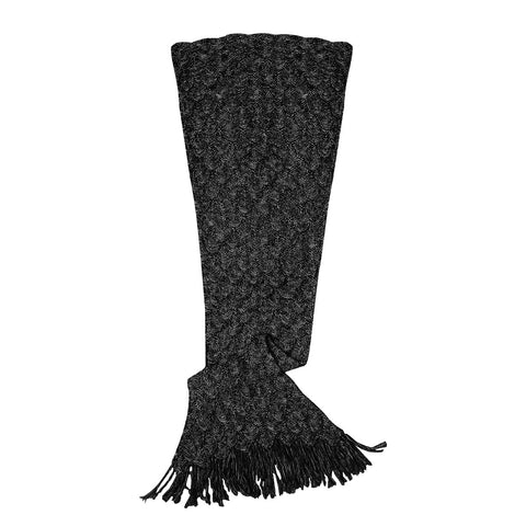 Mermaid Blanket in Black Crochet Knit