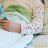 Mermaid Tail Blanket for Children Purple & Green Seatail