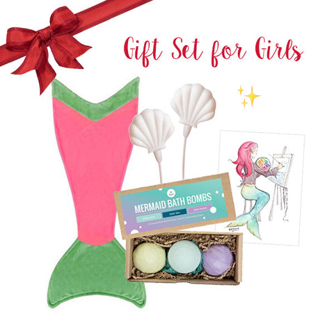 Girls Mermaid Gift Set - Ages 6-12