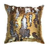 Color-changing Pillow Cover Gold & Silver