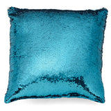 Silver and Blue Mermaid Pillow