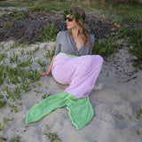 Mermaid Tail Blanket Child & Adult ~ Purple & Green
