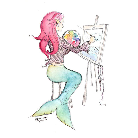 Mermaid Artist Print, 8x10