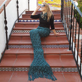 Women's Mermaid Tail Blanket, Teal