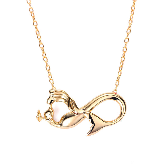 Mermaid necklaces with meaning seatail mermaid infinity charm necklace aloadofball Gallery