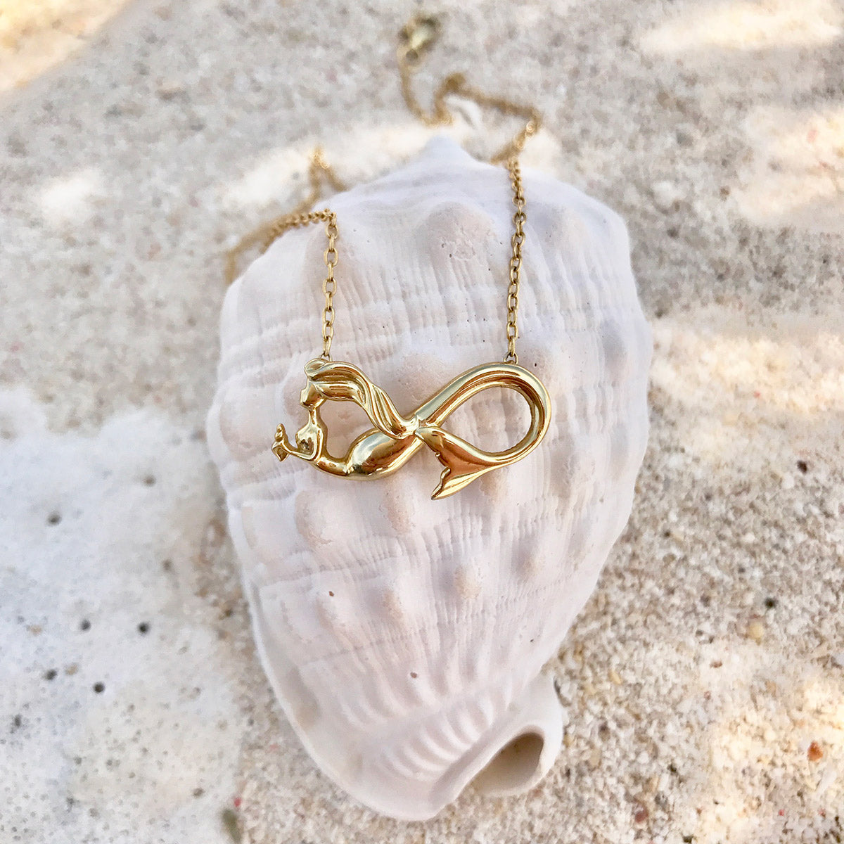 Mermaid infinity charm necklace seatail mermaid necklace infinity mermaid in gold from seatail aloadofball Gallery