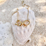 Mermaid Necklace, Infinity Mermaid in GOLD, from Seatail
