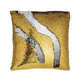 Gold and Silver Mermaid Color Changing Pillow