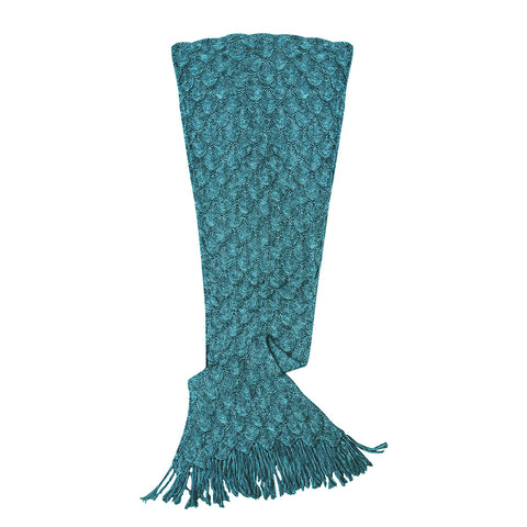 Mermaid Tail Blanket Elegant Knit in Teal