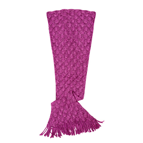 Women's Mermaid Tail Blanket, Garnet