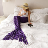 Mermaid Tal Blanket for Women in Dark Purple