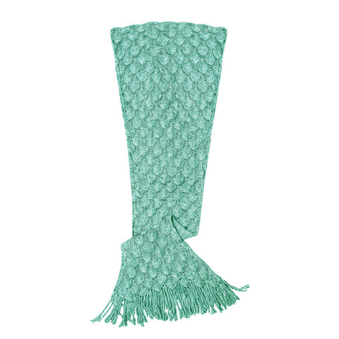 Women's Mermaid Tail Blanket, Seafoam