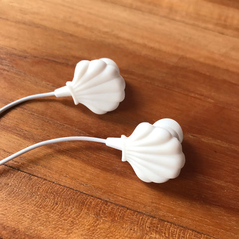 Seashell headphones earbuds - Adorable Mermaid Accessory
