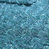 Mermaid Tail Blanket Crocheted Teal by Seatail