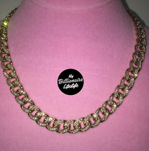 Ladies Thin Bling C Link Chain