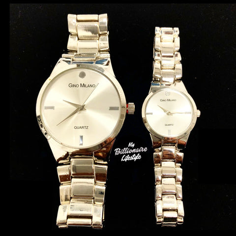His and Hers Watch Set - Silver