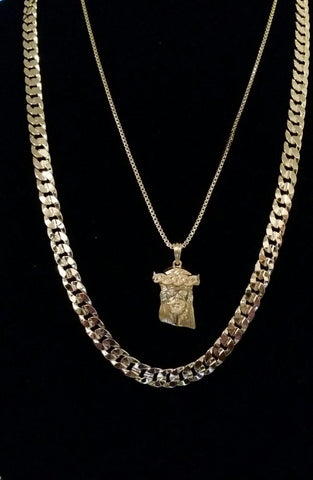 Classic 8mm Chain with Jesus Piece