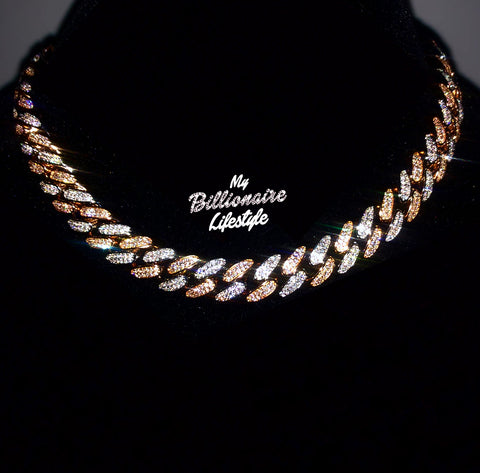 Silver / Rose Gold Cuban Link chain