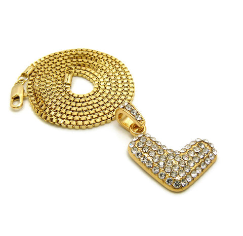 Bubble Letter (Gold)