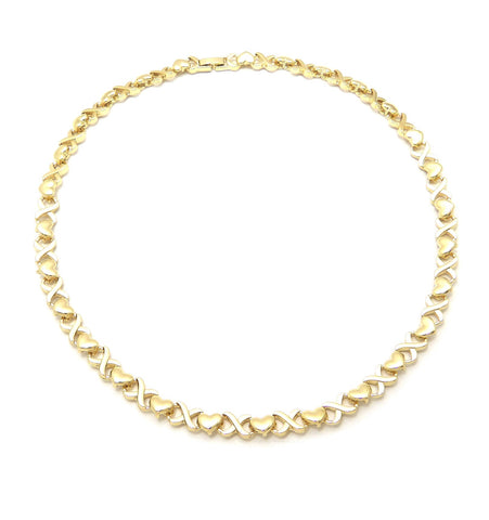 Xo Heart chain (Gold)