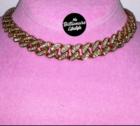 Ladies Thin Bling C Link Choker