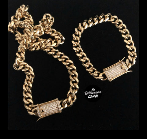 Cuban Link with Bling Lock