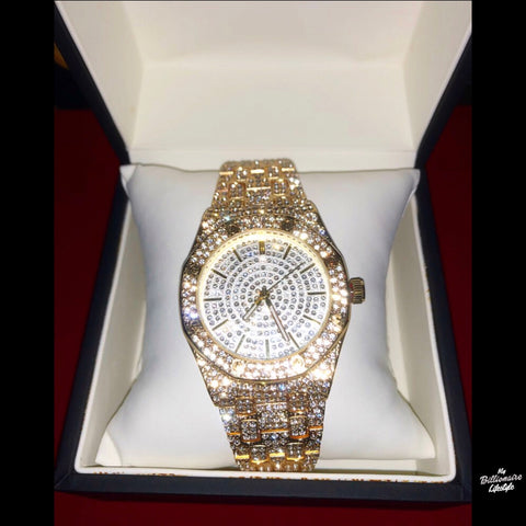 Gold or Silver Super Icy watch