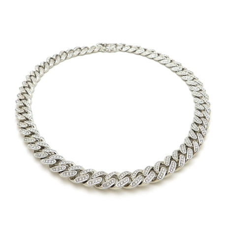 Thick Iced Out Cuban Link (Silver)